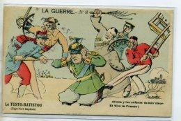 MILITARIA  La Guerre Num 8 JAN METTEIX Le Tusto Batistou Soldats Alliés Tapent Sur Soldat Allemand  /D22-2014 - War 1914-18