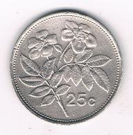 25 CENTS 1993 MALTA /7139/ - Malta