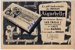 """{12198,1} Publicité """" Chocolats Aiguebelle """", Du Cinémonde N° 970 (1953). """" En Baisse """" - Publicités"""