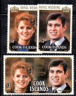 Z793 - COOK  1986, Yvert  N. 864/866  ***  MNH Sarah Andrew - Cook