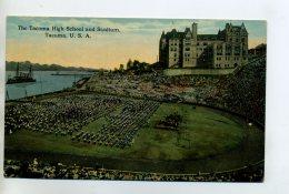 SPORT Stade TACOMA The Tacoma High School And Stadium  1910    D12-2014 - Postcards