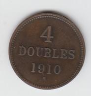 Guernsey Coin 4double 1910 - Guernsey