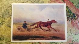 "HORSE IN ART  - Old Art  Postcard  - ""Mare KRASA"" By SVERCHKOV- 1973 - Horse Breeding Museum Collection - Chevaux"
