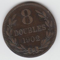 Guernsey Coin 8double 1902 - Guernsey