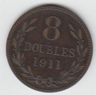 Guernsey Coin 8double 1911 - Guernsey