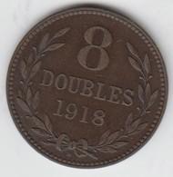 Guernsey Coin 8 Double 1918 - Coins - Guernsey