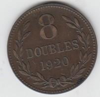 Guernsey Coin 8 Double 1920 - Coins - Guernesey