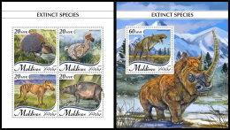 MALDIVES 2018 MNH** Extinct Species Ausgestorbene Tiere Especes Disparues M/S+S/S - OFFICIAL ISSUE - DH1837 - Stamps