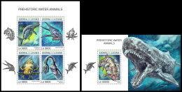 SIERRA LEONE 2018 MNH** Prehistoric Water Animals Wassersaurier M/S+S/S - OFFICIAL ISSUE - DH1837 - Prehistorics