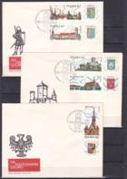 Poland/1970 - Tourism/Turystyka - Set - 3 X FDC - FDC