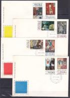 Poland/1970 - Stamp Day/Dzien Znaczka - Set - 4 X FDC - FDC