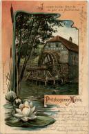 Pritzhagener Mühle - Pritzhagen Oberbarnim - Litho Mit Seerose - Sonstige