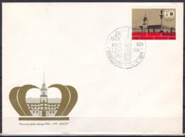 Poland/1971 - Royal Castle Reconstruction/Zamek Krolewski W Warszawie - 60 Gr - FDC - FDC