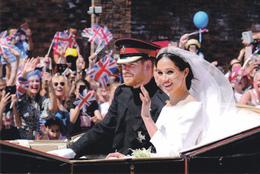 Wedding Prince Harry Meghan Great Brittain  ( Roood 3 - Familles Royales