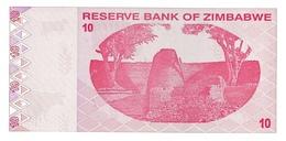 Zimbabwe P.94 10 Dollars 2009 Unc - Zimbabwe