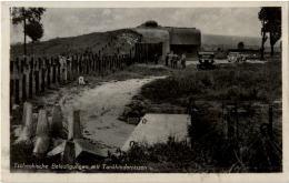 Tschechische Befestigungen Mit Tankhindernissen - Guerra 1939-45