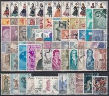 ESPAÑA 1967 Nº 1767/1838 AÑO COMPLETO USADO CON ESCUDOS 72 SELLOS - España