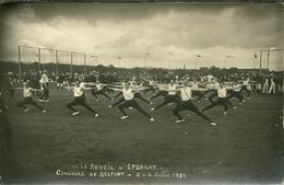 90 Carte Photo  BELFORT   Concours De Gymnastique  Juillet 1920 équipe Le Réveil D 'EPERNAY Non écrite CPA - Veron