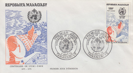 Enveloppe  FDC  1er  Jour   MADAGASCAR   Centenaire  De  L' Organisation   Météorologique  Mondiale   1973 - Madagascar (1960-...)