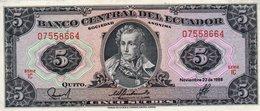 ECUADOR 5 SUCRE 1988 P-113  UNC - Equateur