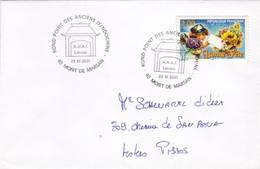 LANDES MONT DE MARSAN ROND POINT ANCIENS INDOCHINE 2001 - Poststempel (Briefe)