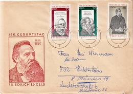 Postal History Cover: Germany / DDR Full Set On Cover - Karl Marx