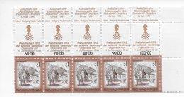 Osterreich Austria 1985; Chess Ajedrez; ; Rare Allonge; Cornerstrip Of 5; - Sonstige