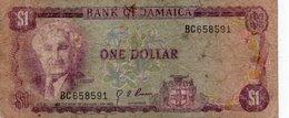 JAMAICA-GIAMAICA 1 DOLLAR 1976 P-59 - Giamaica