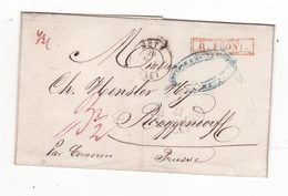 Pli De 1848   Cachet De METZ    Envoyé En PRUSSE - 1801-1848: Precursors XIX