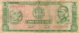 PERU 5 SOLES DE ORO 1974 P-99 - Perù
