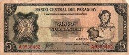 PARAGUAY 5 GUARANIES 1963 P-195 - Paraguay