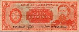 PARAGUAY 100 GUARANIES 1963 P-196 - Paraguay