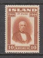 Iceland MNH Michel Nr 236 From 1944 / Catw 75.00 EUR - Ungebraucht