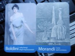 19512) PICCOLO CALENDARIETTO DA TASCA MOSTRA FERRARA PALAZZO DEI DIAMANTI 2009 2010 - Calendari