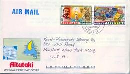 1996 , AITUTAKI , SOBRE DE PRIMER DIA , JUEGOS OLÍMPICOS , CENTENARIO DE LOS JUEGOS OLÍMPICOS MODERNOS - Verano 1996: Atlanta