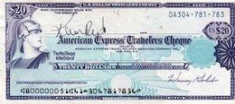 U.S DOLLAR TRAVELERS CHEQUE 20 DOLLAS- XF - Estados Unidos