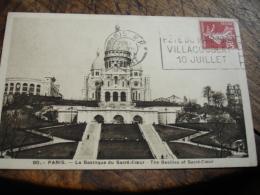 1938 Fete De L Air Villacoublay 10 Juillet Flamme Flier Sur Lettre - Poststempel (Briefe)