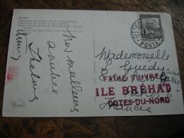Faire Suire Ile Brehat Cotes Du Nord Tampon Rouge Sur Lettre - Poststempel (Briefe)
