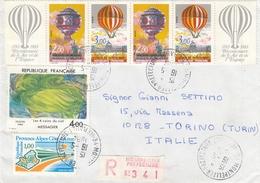 FRANCE - 1984 - Busta Viaggiata Di Raccomandata Affrancata (vedere Descrizione Completa) - Poststempel (Briefe)