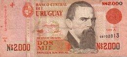 URUGUAY 10000 NUEVOS PESOS 1989 P-68 - Uruguay