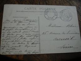 Bloc Dateur Absent Arcueil Cachan Obliteration Sur Lettre - Poststempel (Briefe)