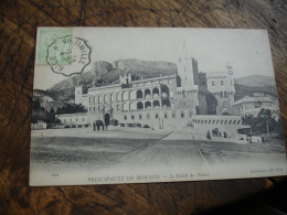 Sur Timbre Et Carte Monaco Nice A Vintimille Cachet Ambulant Convoyeur Poste Ferroviaire Sur Lettre - Poststempel (Briefe)