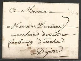 (D075) LAC De COLMAR (COLMAR En Noir) Vers DIJON - Marcophilie (Lettres)
