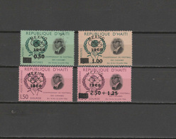 Haiti 1968 Olympic Games Mexico Set Of 4 With Black Overprint MNH - Ete 1968: Mexico