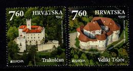 Kroatie, Yv 1183 + 84 Jaar 2017, Reeks,  Europa Cept,  Gestempeld, Zie Scan - Croatie