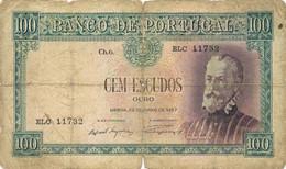 100 ESCUDOS CH.6 DE 25 DE JUNHO DE 1957-Nº.ELC 11732 - Portugal