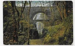 (RECTO / VERSO) RUMBLING BRIDGE EN 1909 - PETITS PLIS ANGLES - CPA VOYAGEE - Kinross-shire