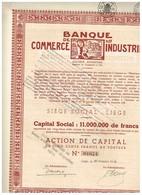 Ancienne Action - Banque  De Commerce Et D'Industrie - Titre De 1932 - N°01674 - Banque & Assurance