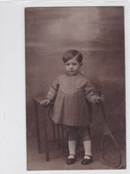 NIÑA GIRL FILLE MENINA TENNIS VINTAGE VOYAGE CIRCA 1922- BLEUP - Photographie
