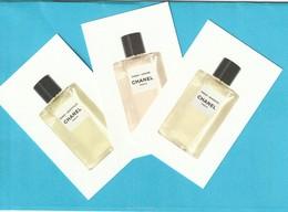 CHANEL Les EAUX De Chanel :** Paris-Venise**Paris-Deauville**Paris-Biarritz ** 3  Cartes - Perfume Cards